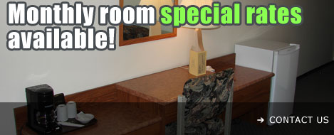 Monthly rooms special rates in Devon, Alberta - contact us today!